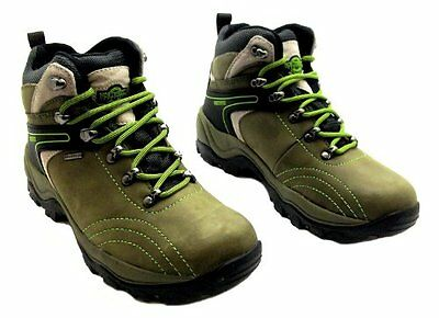 Womens Ladies Northwest Territory Green Waterproof Hiking Walking Boots