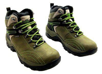 Womens Ladies Northwest Territory Green Waterproof Hiking Walking Boots
