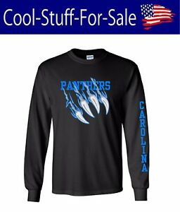 Image is loading Carolina-Panthers-Claw-Scratch-Football-Long-Sleeve-Shirt a3c68b3d5