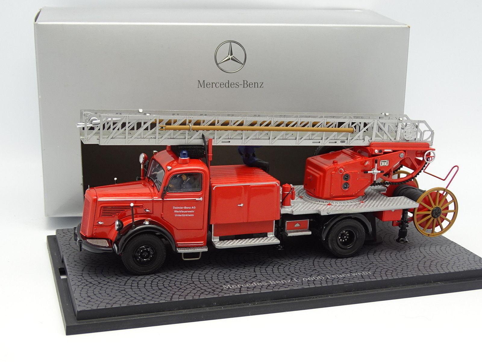 Minichamps 1 43 - Mercedes L6600 Grande Echelle Pompiers Feurwehr Usine