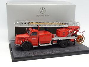 Minichamps-1-43-Mercedes-L6600-Grande-Echelle-Pompiers-Feurwehr-Usine