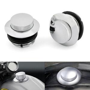 Chrome-Pop-Up-Fuel-Gas-Cap-Cover-Set-fit-HD-82-UP-Sportster-Chopper-AUS