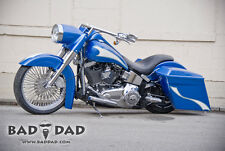 """BadDad 3"""" Stretched Paintable Headlight Nacelle - 94-15 Harley Softail FL 80829"""