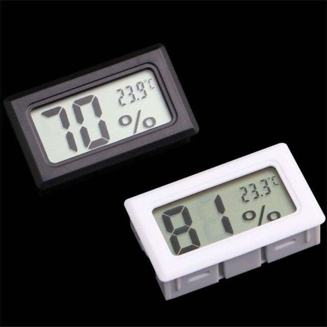 LCD Temperature Humidity Thermometer Outdoor Hygrometer Reptile Meter WhiteBlack