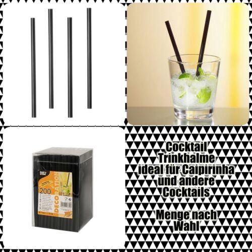 Cocktail Trinkhalme Strohhalme Caipirinha Ø 7 mm · 15 cm schwarz
