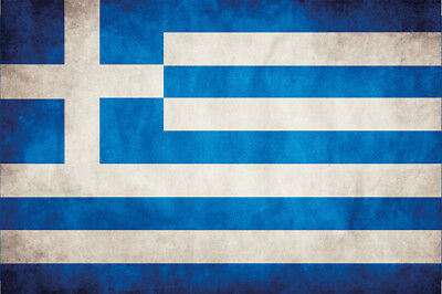 Signs Greece Flag Flag Metal Sign Signboard Tin Sign 7 7/8x11 13/16in
