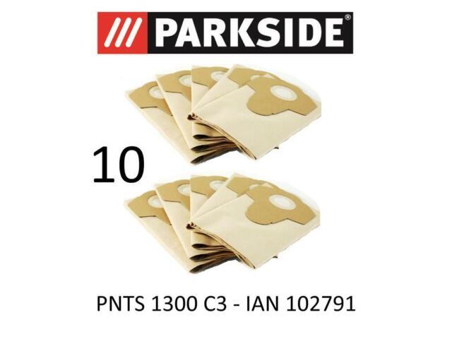 10 Staubsaugerbeutel zu Parkside PNTS 1400 A1 1400A1