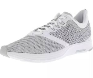 d65a0e38442 Men s Nike Zoom Strike Running Shoe White Wolf Grey AJ0189 100 Size ...