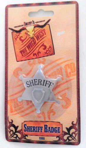 NEUF SMIFFY/'S Sheriff Badge Star Sheriff insigne Cowboy Fancy Dress