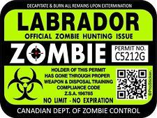 Canada Labrador Zombie Hunting License Permit 3x4 Decal Sticker Outbreak 1309