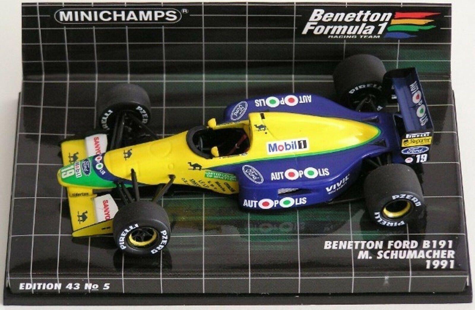 WOW estremamente raro BENETTON B191 FORD  19 Schumacher Monza 1991 1 43 Minichamps