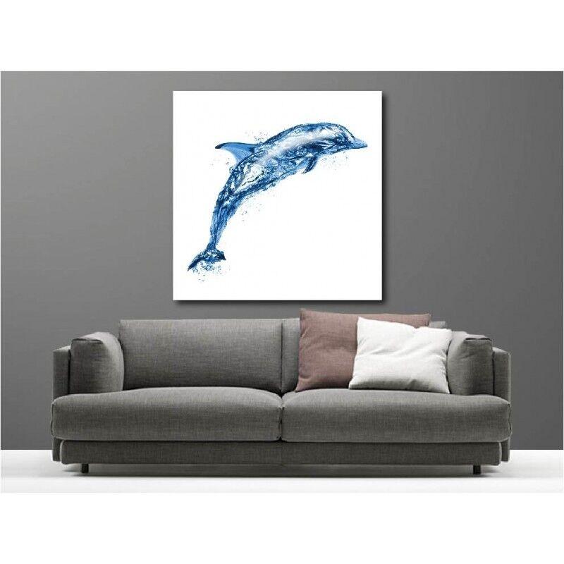 Gemälde Stoff Deko Delfin 68767258