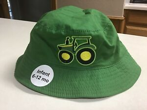 John Deere Green Tractor Bucket Hat Cap Toddler 6-12 Month ~ 100 ... 162c3c8dbeb