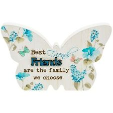 butterfly friends freestanding plaque hanging sign gift shabby chic vintage
