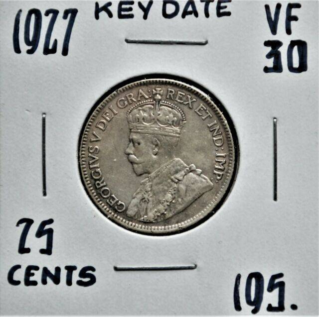 1927 Canada 25 cents VF-30