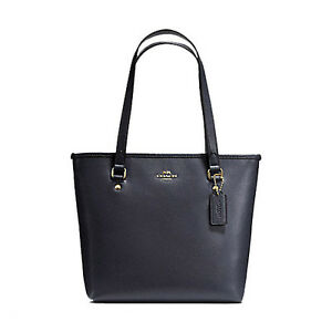 Coach-Bag-F36632-Midnight-Crossgrain-Zip-Top-Tote-Leather-MIdnight-Agsbeagle-COD