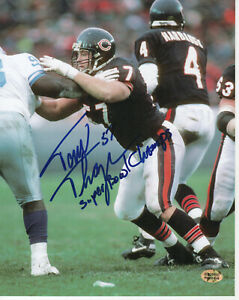 Tom-Thayer-Chicago-Bears-Autographed-8x10-Football-Photo-With-Inscription