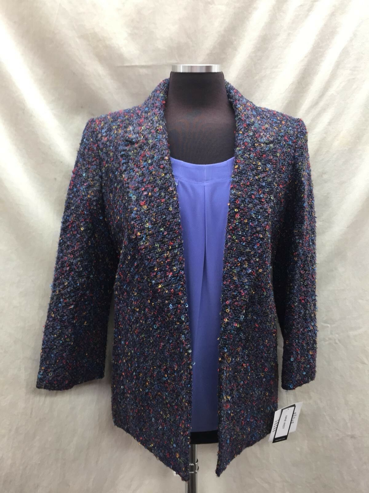 NINE WEST TWEED BLAZER SIZE SIZE SIZE 16 NEW WITH TAG RETAIL 139 LINED TANK NOT INCLUDED 305e6a