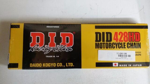 Yamaha DT 125 RE MX Everts 2005-2006 DID Heavy Duty Chain 428HD x 134 DE061