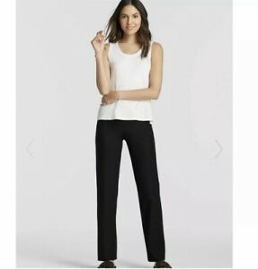 eileen fisher black dress work pants size 6 stretchy