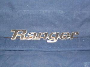 Vintage Ford Ranger Name Emblem ca 1970