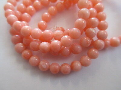 "Genuine Pink Angel Coral Beads 4mm Round Natural Pink Cloud Beads 16"" Strand"