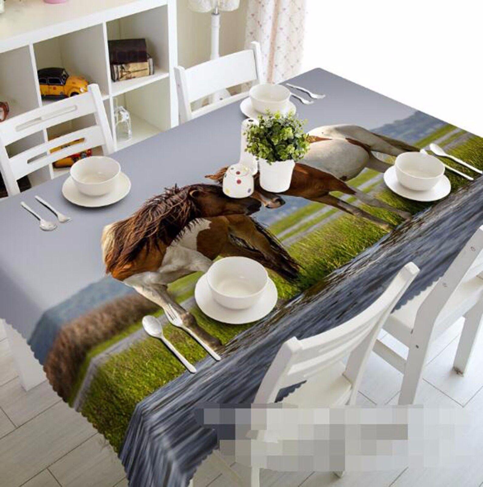 3D Horse 64 Tablecloth Table Cover Cloth Birthday Party AJ WALLPAPER UK Lemon
