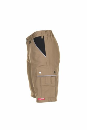 Planam Canvas 320 Herren Shorts khaki schwarz Modell 2175