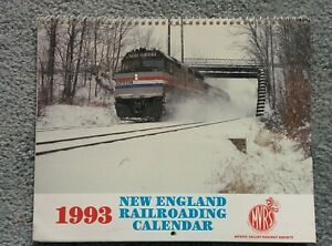 NEW ENGLAND RAILROADING CALENDAR 1993 to use again THIS YEAR 2021 and in 2027