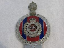 Vintage Car Mascot ER British Army Royal Engineers Bumper Badge Enamel by Gaunt