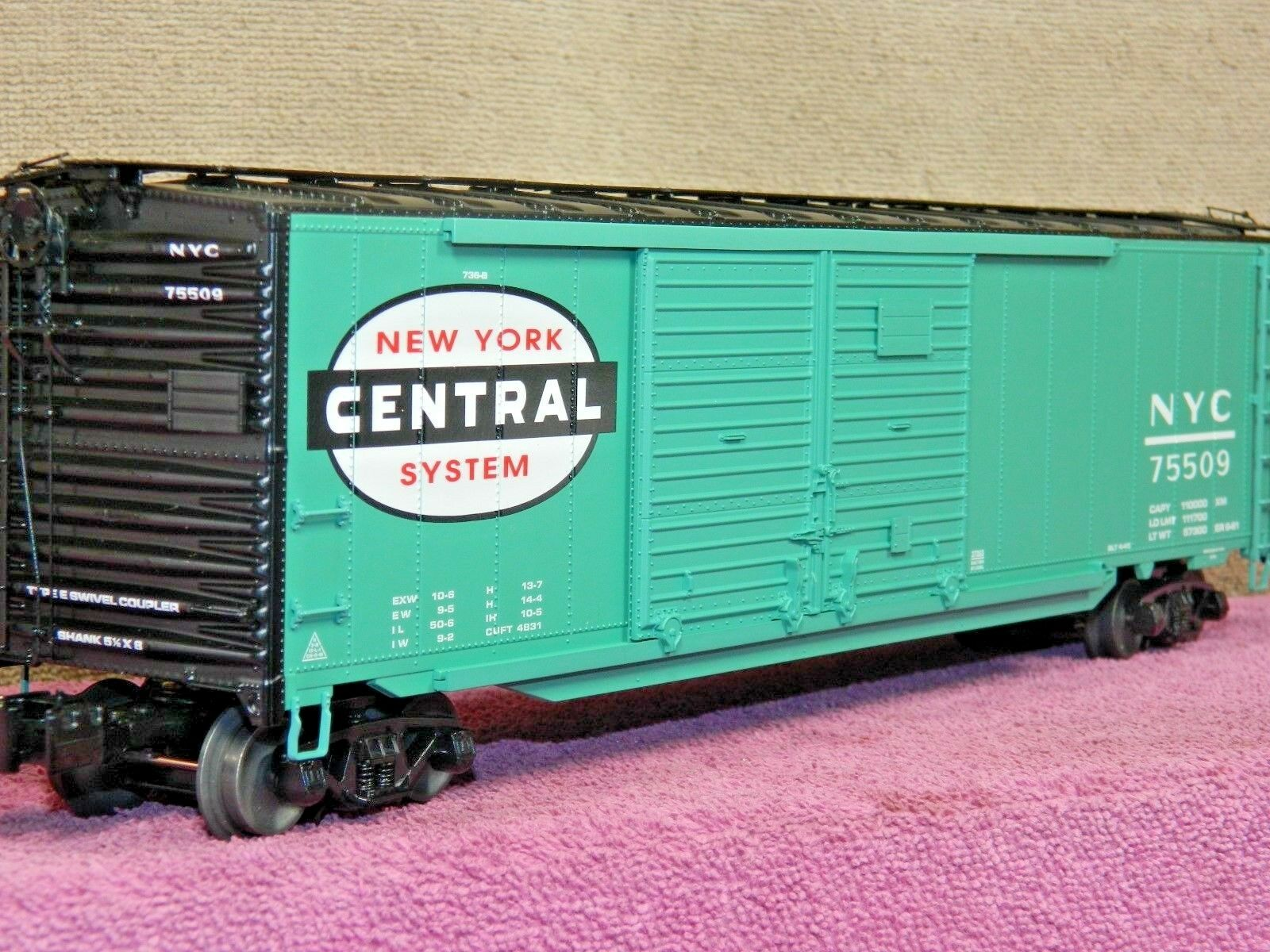 LIONEL SCALE  6-27203 NEW YORK CENTRAL 50FT DD BOX CAR w/AUTO FRAME LOAD NIB