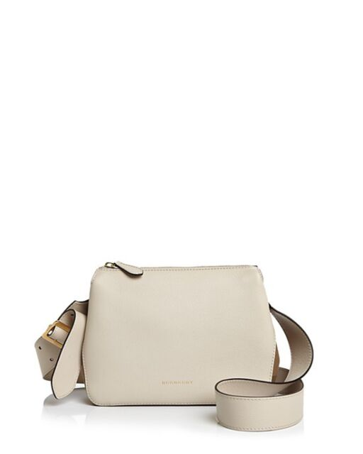 6aae9a50ad46 Burberry Helmsley Crossbody Bag Small Leather   House Check Limestone NEW  Auth