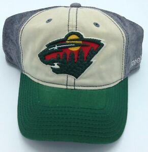 timeless design 5e7dc bc5de Image is loading NHL-Minnesota-Wild-Reebok-Adult-Slouch-Flex-Fit-