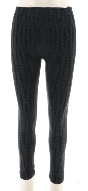 a38a55db112beb Spanx Cropped LOOK Me Now Seamless Leggings Black Geo L A288466 for ...