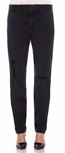 Joe's Jeans Boyfriend Distressed Trousers Pants Ivana/Faded Black Nwt $189