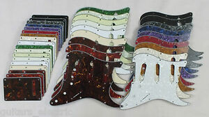SCRATCH-PLATE-Pickguard-Set-SSS-to-fit-USA-Mex-STRATOCASTER-Strats-in-18-Colours