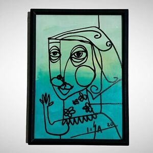 PAINTING-ORIGINAL-ACRYLIC-ON-FIBERBOARD-FRAME-INCLUDED-5x7-CUBAN-ART-by-LISA