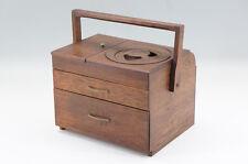 Japan Vintage Wood TABAKO-BON with Iron ARARE Ashtray Free Shipping 634r08