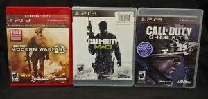 Call of Duty: Modern Warfare 2, 3, Ghosts, - Playstation 3 PS3 3 Game Lot  Works