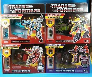 Transformers G1 Retro Headmaster Walmart Set Of 4 Brainstorm Mindwipe Hardhead