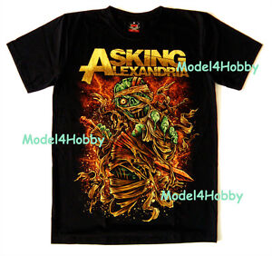 Asking alexandria t shirt black sz s m l xl metalcore for Asking alexandria tattoo