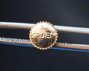Vintage-Gruen-Curvex-Veri-Thin-watch-tap-size-8-dustproof-crown-yellow-gold-NOS