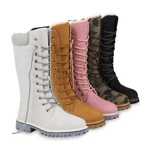 meet 0c1bf d7c27 Details zu Damen Worker Boots Warm Gefütterte Stiefel Profil Winterstiefel  820181 Schuhe