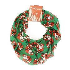 Santa Claus Christmas Scarf Infinity 72x32 Holiday Accessory