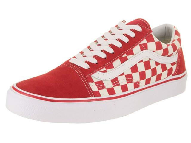 e06401910aec4f VANS Old Skool Primary Check Racing Red Vn0a38g1p0t Mens Size 7.5 ...