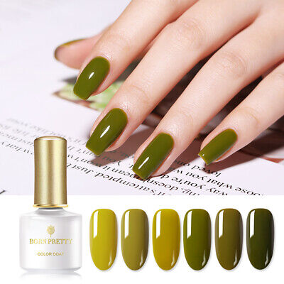 BORN PRETTY 6ml Gel Polish Olive Green Soak Off Nail Art Gel Varnish Design  Nail