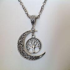bijoux celtes pendentif Lune entrelacs celtiques et arbre de vie irlandais