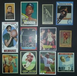 5-Sport-Lot-T206-Honus-Wagner-1952-Topps-Mickey-Mantle-Babe-Ruth-Rookie-Card