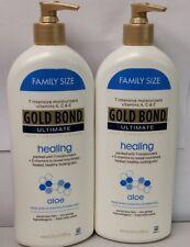 Gold Bond Ultimate Healing Aloe Lotion 20 OZ (566 g)  2 NEW BOTTLES free ship