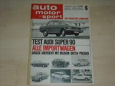 59526) NSU TTS - Audi Super 90 - Opel Commodore - AMS 06/1967
